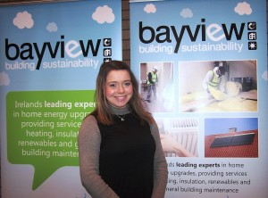 Bayview Marketing Student, Laura Hillen representing Bayview Contracts.